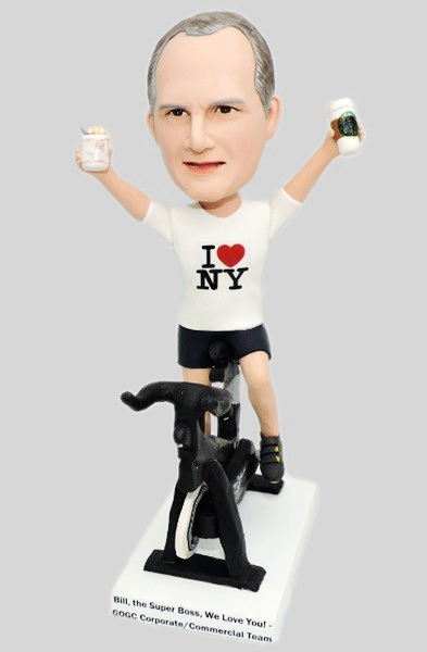 Custom Custom Bobblehead Riding Soulcycle Stationary Bike